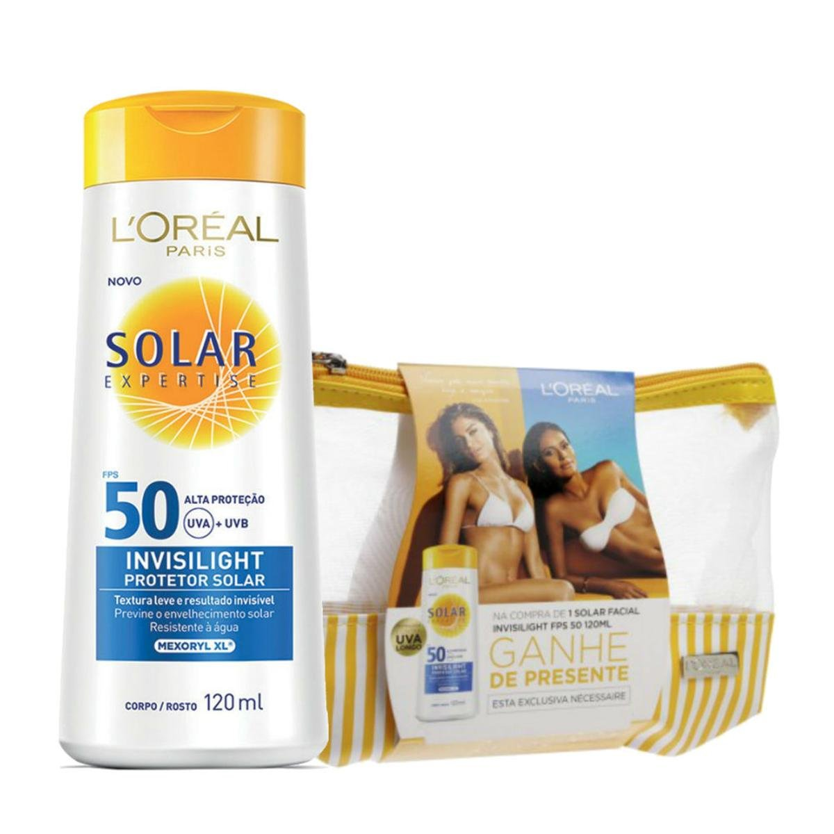 Protetor Solar L Oréal Expertise Invisilight FPS 50 120ml Grátis Necessaire  - Compre Agora   Netshoes e050226d0a