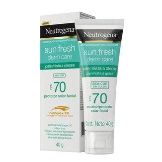 Protetor Solar Neutrogena Sun Fresh Derm Care Facial FPS70 40g
