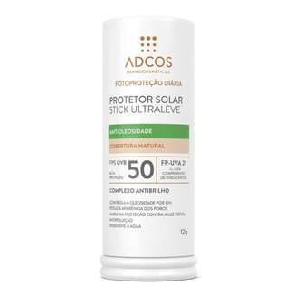 Protetor Solar Stick Adcos FPS50 Ultra Leve Nude