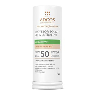 Protetor Solar Stick Adcos FPS50 Ultra Leve Peach