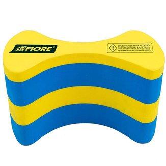 Pull Buoy Polibóia para Natação Fiore Super Amarelo/Azul