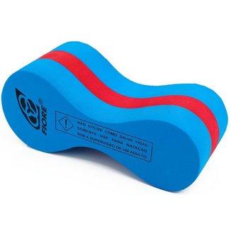 Pull Buoy Polibóia para Natação Fiore Tech Azul/Vermelho
