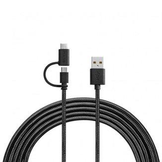 Pulse Cabo Premium 2 em 1 Micro Usb/tipo-c 1,5 Metros  Wi415
