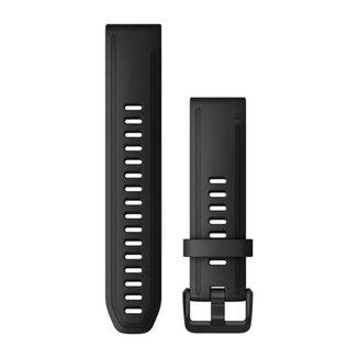 Pulseira Garmin QuickFit 20 Fênix 5s/5sPlus/6s, Silicone, Preto