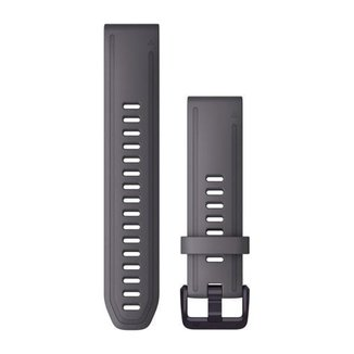 Pulseira Garmin QuickFit 20 p/ Fenix 5S/6S/ D2 Delta S Cinza Silicone c/ Aço Ametista