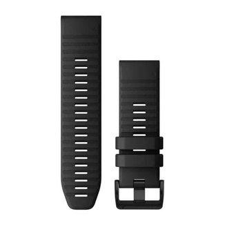 Pulseira Garmin QuickFit 26 Fênix 3/3HR/5X/5XPlus/6X, Descent, Quatix 3, Slicone, Preto