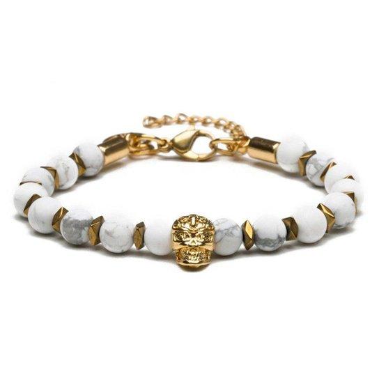 Pulseira Masculina North Gold White Special Edition - Branco