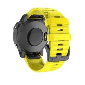 Pulseira Para Garmin Fenix 5/ Fenix 6 / Forerunner 935 945  Amarela M3