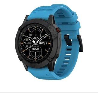 Pulseira Para Garmin Fenix 5/ Fenix 6 / Forerunner 935 945 Azul Claro M3