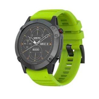 Pulseira Para Garmin Fenix 5 Fenix 6 / Forerunner 935 945 Verde Neon M3