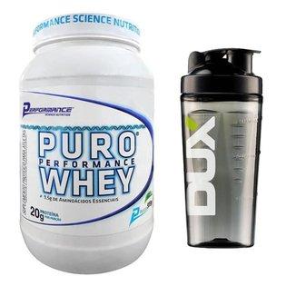 Puro Whey Protein Concentrado Performance 909g + Copo Dux