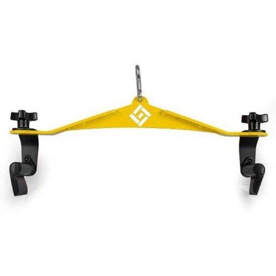 Puxador Anatomico Academia Line Fitness Grande - Amarelo