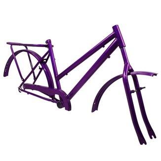 Quadro Aro 26 Para Poty com Acessórios Completo + Garfo - Violeta