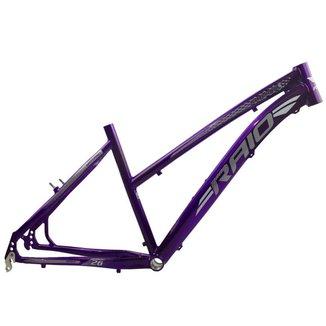 Quadro Aro 26 Rebaixado Tamanho 17 Feminino Alumínio - Violeta