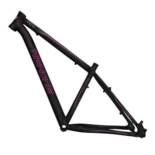 Quadro Aro 29 Ciclismo High One Neo Alumínio 6061 Mtb Bike - Preto+Rosa