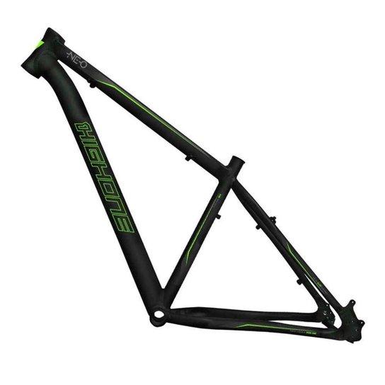 Quadro Aro 29 Ciclismo High One Neo Alumínio 6061 Mtb Bike - Preto+verde