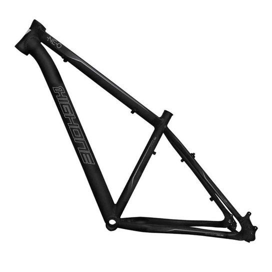 Quadro Aro 29 Ciclismo High One Neo Alumínio 6061 Mtb Bike - Preto+Cinza