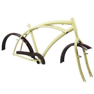 Quadro Caiçara Beach Vintage Bicicleta Aro 26 Completo + Garfo