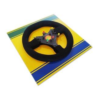 Quadro Liga Retrô 3D Volante McLaren 1993 Brasil 40 Por 40cm