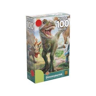 Quebra-cabeça 100 Peças Dinossauros Puzzle