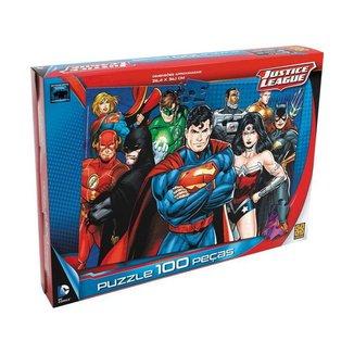 Quebra-cabeça 100 Peças Puzzle Liga da Justiça