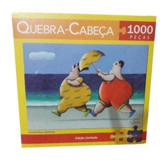Quebra Cabeça 1000 Pcs Banhista Artista Gustavo Rosa