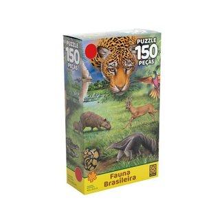 Quebra-cabeça 150 Peças Paisagem Fauna Brasileira