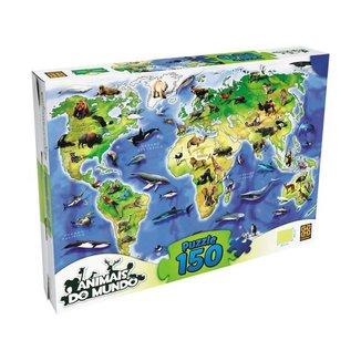 Quebra-cabeça 150 Peças Puzzle Animais do Mundo