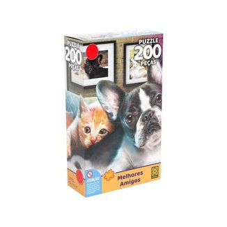Quebra-cabeça 200 Peças Animais Puzzles Infantis