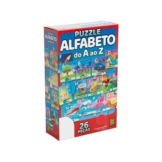Quebra-cabeça 26 Peças Alfabeto do A ao Z Grow