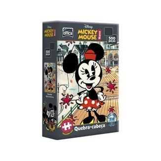 Quebra-cabeça 500 Peças Mickey Mouse Game Office