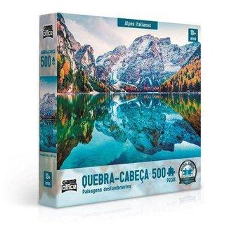 Quebra-Cabeça 500 Peças Paisagens Deslumbrantes Alpes Italianos