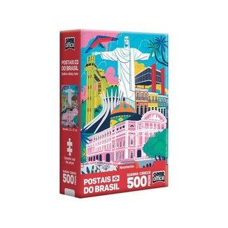 Quebra-cabeça 500 Peças Postais do Brasil