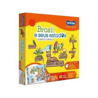 Quebra-cabeça 82 Peças Brasil 2771 Toyster