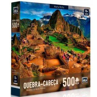 Quebra-Cabeça Toyster 500 Peças Maravilhas do Mundo Moderno Machu Picchu