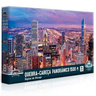 Quebra-Cabeça Toyster Panorâmico Skyline de Chicago 1500 Peças