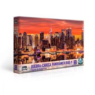 Quebra-Cabeça Toyster Panorâmico Skyline de Manhattan 1500 Peças