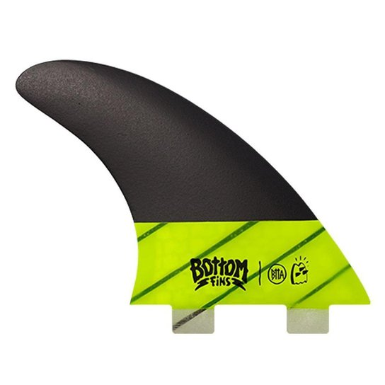 Quilhas Bottom Fins Medium Carbono Encaixe Fcs1 - Amarelo