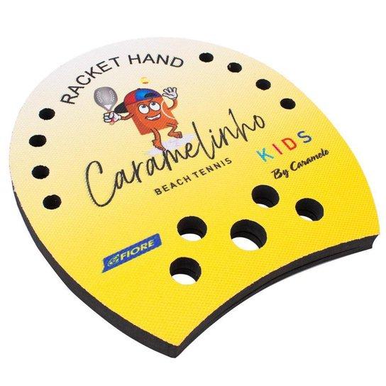 Racket Hand Caramelinho para Beach Tennis e Tennis - Amarelo - Amarelo