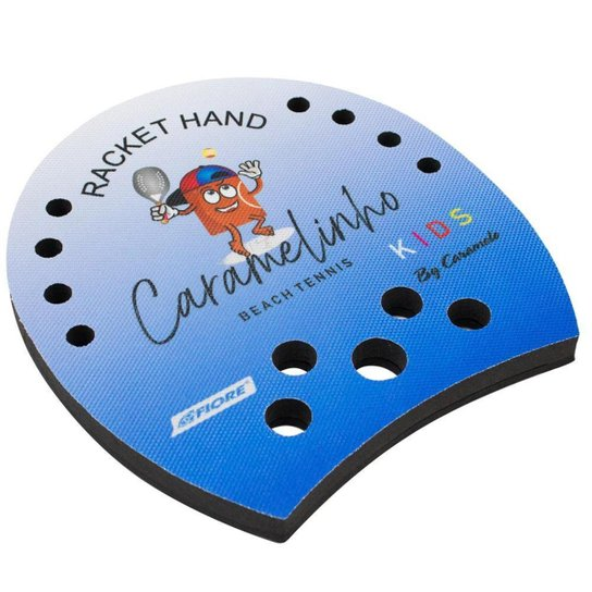 Racket Hand Caramelinho para Beach Tennis e Tennis - Azul - Azul