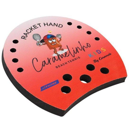 Racket Hand Caramelinho para Beach Tennis e Tennis - Vermelho - Vermelho