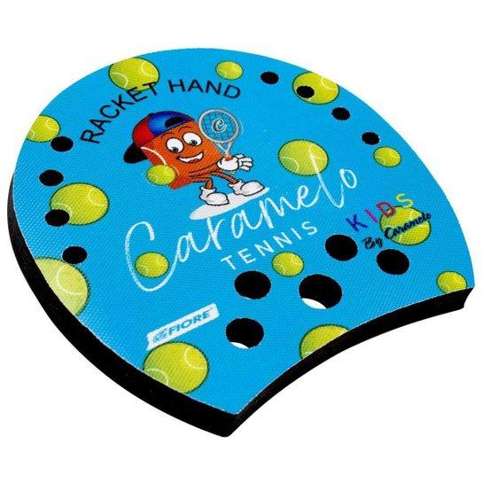 Racket Hand Caramelinho para Tennis e  Beach Tennis - Azul - Azul