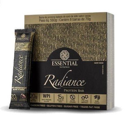 Radiance Protein Bar - 8 Unidades 70g - Essential Nutrition - Unissex