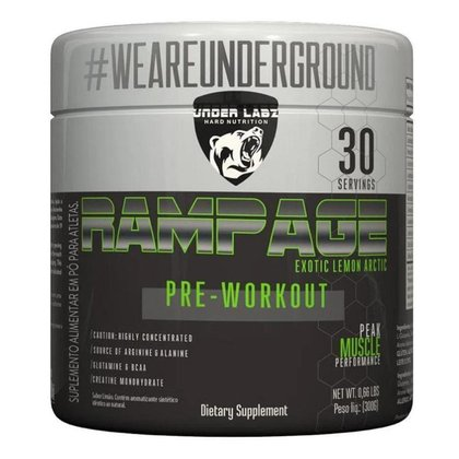 Rampage Pre-Workout 300g Exotic Lemon Arctic Under Labz