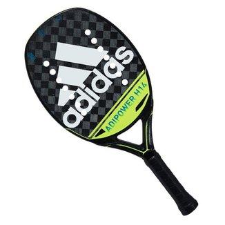 Raquete de Beach Tennis Adidas Adipower H14 Preta e Limão