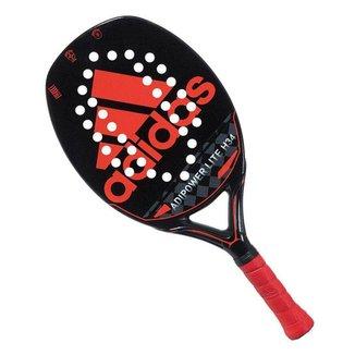 Raquete de Beach Tennis Adidas Adipower Lite H34 Preta e Vermelha