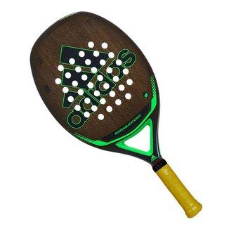 Raquete de Beach Tennis Adidas GreenBeachTennis Marron Preta e Verde