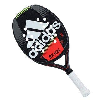 Raquete de Beach Tennis Adidas RX H24 Preta Branca e Vermelha