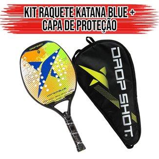 Raquete de Beach Tennis Blue Katana Com Capa - Drop Shot