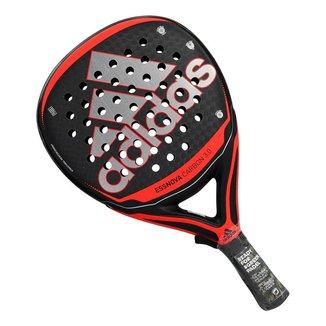 Raquete de Padel Adidas Essnova Carbon 3.0 Preta e Vermelha